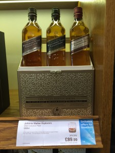 Johnnie Walker Explorer's Club 200mL Collection, available at London Heathrow Airport's Duty Free