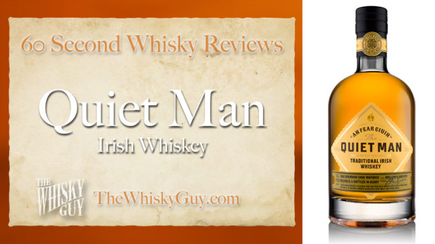 Does The Quiet Man Traditional Irish Whiskey belong in your liquor cabinet? Is it worth the price at the bar? Give The Whisky Guy 60 seconds and find out! In just 60 seconds, The Whisky Guy reviews Irish Whiskey, Scotch Whisky, Single Malt, Canadian Whisky, Bourbon Whiskey, Japanese Whisky and other whiskies from around the world. Find more at TheWhiskyGuy.com. All original content © Ari Shapiro - TheWhiskyGuy.com