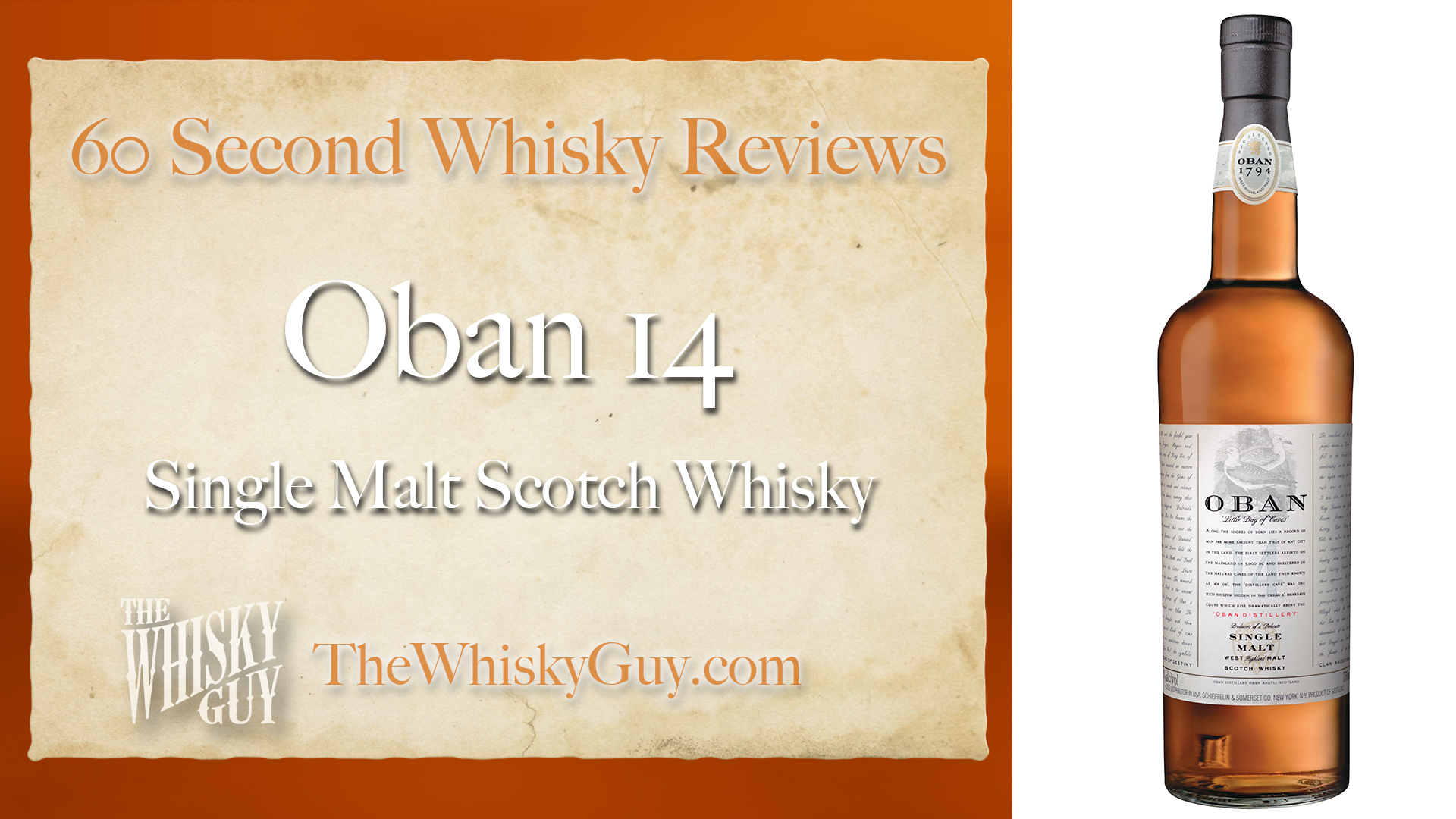 Does Oban 14 Single Malt Scotch Whisky belong in your liquor cabinet? Is it worth the price at the bar? Give The Whisky Guy 60 seconds and find out! In just 60 seconds, The Whisky Guy reviews Irish Whiskey, Scotch Whisky, Single Malt, Canadian Whisky, Bourbon Whiskey, Japanese Whisky and other whiskies from around the world. Find more at TheWhiskyGuy.com. All original content © Ari Shapiro - TheWhiskyGuy.com