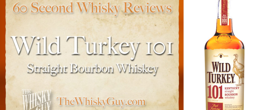 Does Wild Turkey 101 Straight Bourbon Whiskey belong in your liquor cabinet? Is it worth the price at the bar? Give The Whisky Guy 60 seconds and find out! In just 60 seconds, The Whisky Guy reviews Irish Whiskey, Scotch Whisky, Single Malt, Canadian Whisky, Bourbon Whiskey, Japanese Whisky and other whiskies from around the world. Find more at TheWhiskyGuy.com. All original content © Ari Shapiro - TheWhiskyGuy.com