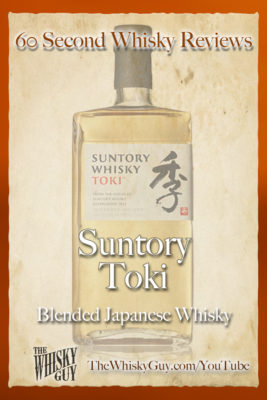 Should you spend your money on Suntory Toki Blended Japanese Whisky? Find out in 60 Seconds in Whisky Review #43 from TheWhiskyGuy! Watch and Subscribe at TheWhiskyGuy.com/YouTube