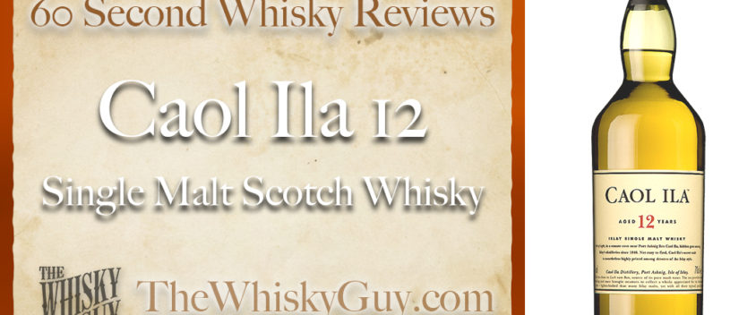 Does Caol Ila 12 Single Malt Scotch Whisky belong in your liquor cabinet? Is it worth the price at the bar? Give The Whisky Guy 60 seconds and find out! In just 60 seconds, The Whisky Guy reviews Irish Whiskey, Scotch Whisky, Single Malt, Canadian Whisky, Bourbon Whiskey, Japanese Whisky and other whiskies from around the world. Find more at TheWhiskyGuy.com. All original content © Ari Shapiro - TheWhiskyGuy.com