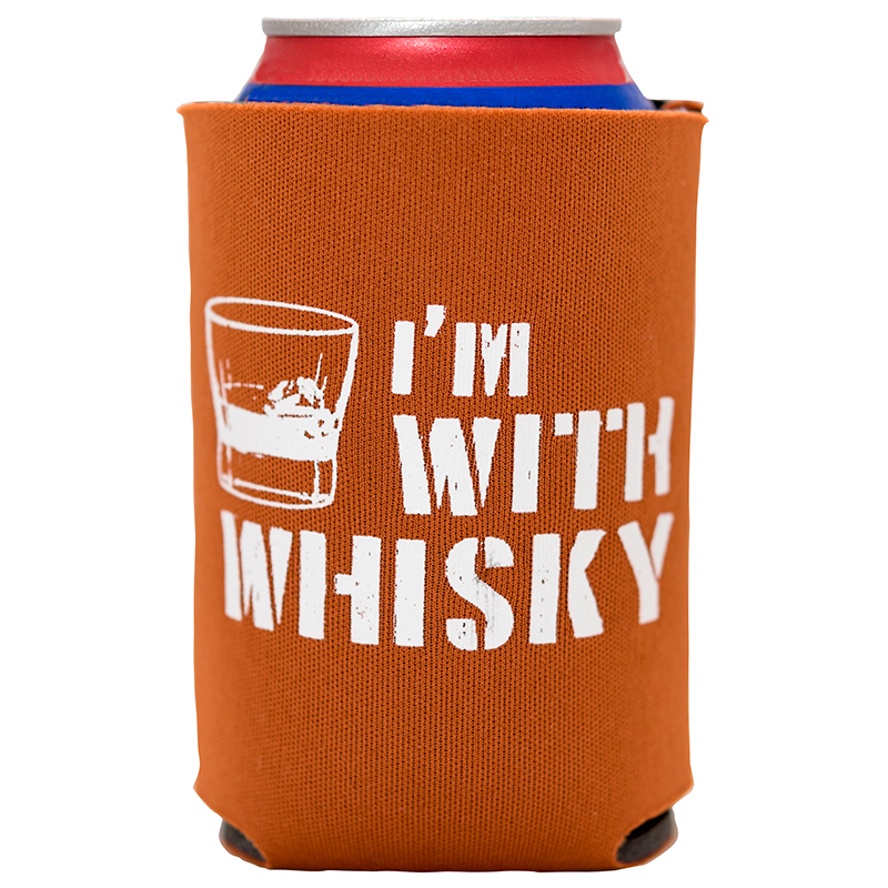 "Show off what you really love while you sip a lesser beverage with this ""I'm With Whisky"" Sidekick Sleeve! From Glassware to Coasters to eBooks and Flasks and more, enjoy the whiskey lifestyle with these great products from The Whisky Guy! Sales and More at TheWhiskyGuy.com"