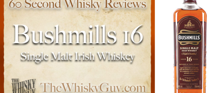 Does Bushmills 16 Single Malt Irish Whiskey belong in your liquor cabinet? Is it worth the price at the bar? Give The Whisky Guy 60 seconds and find out! In just 60 seconds, The Whisky Guy reviews Irish Whiskey, Scotch Whisky, Single Malt, Canadian Whisky, Bourbon Whiskey, Japanese Whisky and other whiskies from around the world. Find more at TheWhiskyGuy.com. All original content © Ari Shapiro - TheWhiskyGuy.com