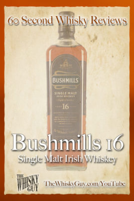Should you spend your money on Bushmills 16 Single Malt Irish Whiskey? Find out in 60 Seconds in Whisky Review #051 from TheWhiskyGuy! Watch and Subscribe at TheWhiskyGuy.com/YouTube