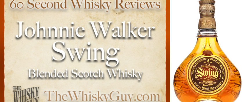 Does Johnnie Walker Swing Blended Scotch Whisky belong in your liquor cabinet? Is it worth the price at the bar? Give The Whisky Guy 60 seconds and find out! In just 60 seconds, The Whisky Guy reviews Irish Whiskey, Scotch Whisky, Single Malt, Canadian Whisky, Bourbon Whiskey, Japanese Whisky and other whiskies from around the world. Find more at TheWhiskyGuy.com. All original content © Ari Shapiro - TheWhiskyGuy.com