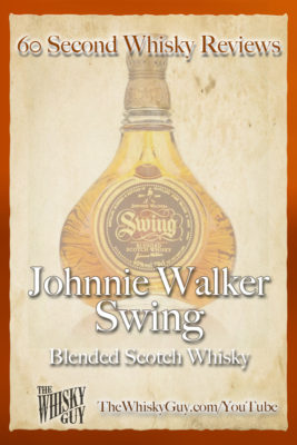 Should you spend your money on Johnnie Walker Swing Blended Scotch Whisky? Find out in 60 Seconds in Whisky Review #053 from TheWhiskyGuy! Watch and Subscribe at TheWhiskyGuy.com/YouTube