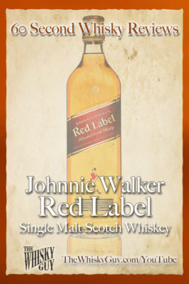 Should you spend your money on Johnnie Walker Red Label Blended Scotch Whisky? Find out in 60 Seconds in Whisky Review #058 from TheWhiskyGuy! Watch and Subscribe at TheWhiskyGuy.com/YouTube