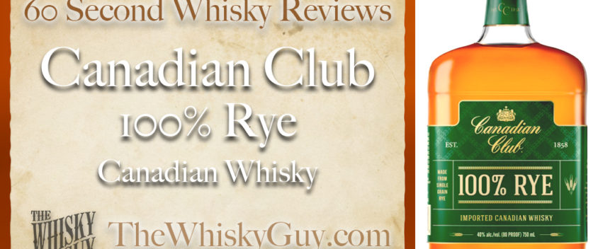 Does Canadian Club 100% Rye Canadian Whisky belong in your liquor cabinet? Is it worth the price at the bar? Give The Whisky Guy 60 seconds and find out! In just 60 seconds, The Whisky Guy reviews Irish Whiskey, Scotch Whisky, Single Malt, Canadian Whisky, Bourbon Whiskey, Japanese Whisky and other whiskies from around the world. Find more at TheWhiskyGuy.com. All original content © Ari Shapiro - TheWhiskyGuy.com