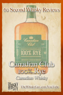 Should you spend your money on Canadian Club 100% Rye Canadian Whisky? Find out in 60 Seconds in Whisky Review #060 from TheWhiskyGuy! Watch and Subscribe at TheWhiskyGuy.com/YouTube