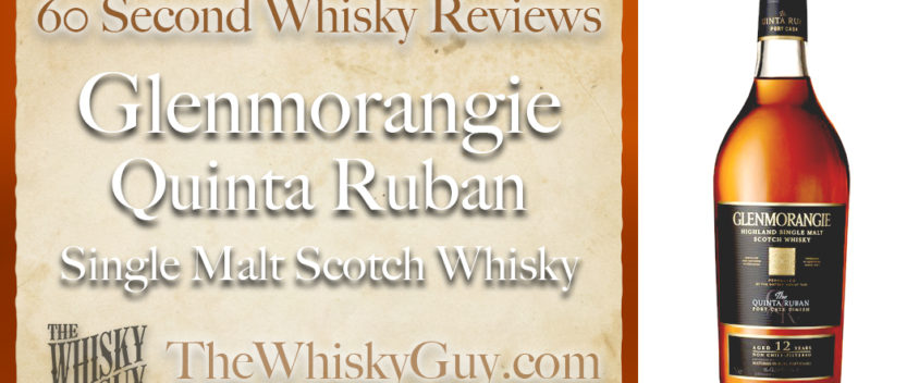 Does Glenmorangie Quinta Ruban Single Malt Scotch Whisky belong in your liquor cabinet? Is it worth the price at the bar? Give The Whisky Guy 60 seconds and find out! In just 60 seconds, The Whisky Guy reviews Irish Whiskey, Scotch Whisky, Single Malt, Canadian Whisky, Bourbon Whiskey, Japanese Whisky and other whiskies from around the world. Find more at TheWhiskyGuy.com. All original content © Ari Shapiro - TheWhiskyGuy.com