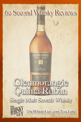 Should you spend your money on Glenmorangie Quinta Ruban Single Malt Scotch Whisky? Find out in 60 Seconds in Whisky Review #061 from TheWhiskyGuy! Watch and Subscribe at TheWhiskyGuy.com/YouTube