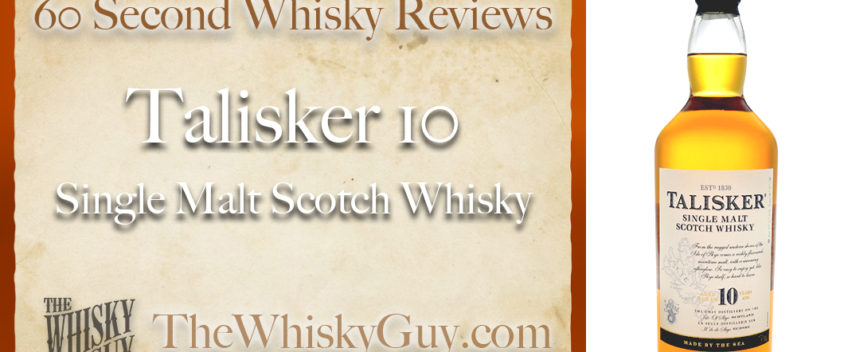 Does Talisker 10 Single Malt Scotch Whisky belong in your liquor cabinet? Is it worth the price at the bar? Give The Whisky Guy 60 seconds and find out! In just 60 seconds, The Whisky Guy reviews Irish Whiskey, Scotch Whisky, Single Malt, Canadian Whisky, Bourbon Whiskey, Japanese Whisky and other whiskies from around the world. Find more at TheWhiskyGuy.com. All original content © Ari Shapiro - TheWhiskyGuy.com