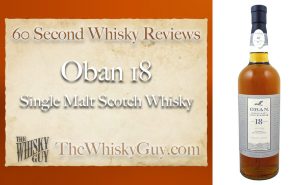 If Oban 14 is in the middle and Oban Distillers Edition leans toward the salty side, Oban 18 leans back to the luscious and fruity. But does it belong in your whisky cabinet? Give me 60 seconds and find out as The Whisky Guy tastes Oban 18 Single Malt Scotch Whisky! Dedicated to Evan Cattanach - Former Distillery Manager of the Oban Distillery. Watch and Subscribe to all 60 Second Whisky Reviews at http://TheWhiskyGuy.com/YouTube