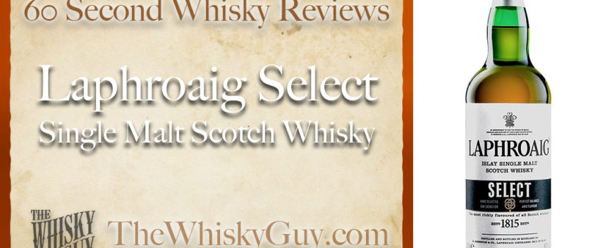 Does Laphroaig Select Single Malt Scotch Whisky belong in your liquor cabinet? Is it worth the price at the bar? Give The Whisky Guy 60 seconds and find out! In just 60 seconds, The Whisky Guy reviews Irish Whiskey, Scotch Whisky, Single Malt, Canadian Whisky, Bourbon Whiskey, Japanese Whisky and other whiskies from around the world. Find more at TheWhiskyGuy.com. All original content © Ari Shapiro - TheWhiskyGuy.com
