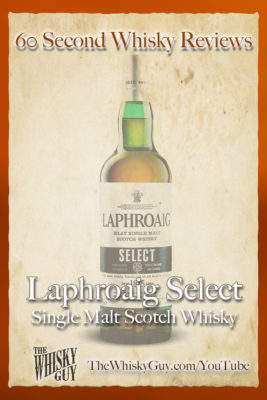 Should you spend your money on Laphroaig Select Single Malt Scotch Whisky? Find out in 60 Seconds in Whisky Review #065 from TheWhiskyGuy! Watch and Subscribe at TheWhiskyGuy.com/YouTube