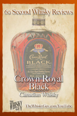 Should you spend your money on Crown Royal Black Canadian Whisky? Find out in 60 Seconds in Whisky Review #066 from TheWhiskyGuy! Watch and Subscribe at TheWhiskyGuy.com/YouTube