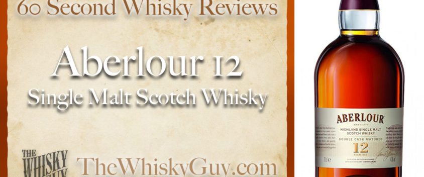 Does Aberlour 12 Single Malt Scotch Whisky belong in your liquor cabinet? Is it worth the price at the bar? Give The Whisky Guy 60 seconds and find out! In just 60 seconds, The Whisky Guy reviews Irish Whiskey, Scotch Whisky, Single Malt, Canadian Whisky, Bourbon Whiskey, Japanese Whisky and other whiskies from around the world. Find more at TheWhiskyGuy.com. All original content © Ari Shapiro - TheWhiskyGuy.com