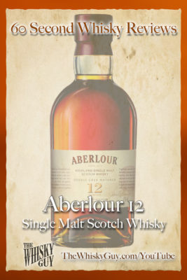 Should you spend your money on Aberlour 12? Find out in 60 Seconds in Whisky Review #068 from TheWhiskyGuy! Watch and Subscribe at TheWhiskyGuy.com/YouTube