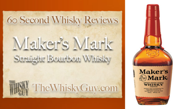 Does Maker's Mark Straight Bourbon Whisky belong in your liquor cabinet? Is it worth the price at the bar? Give The Whisky Guy 60 seconds and find out! In just 60 seconds, The Whisky Guy reviews Irish Whiskey, Scotch Whisky, Single Malt, Canadian Whisky, Bourbon Whiskey, Japanese Whisky and other whiskies from around the world. Find more at TheWhiskyGuy.com. All original content © Ari Shapiro - TheWhiskyGuy.com