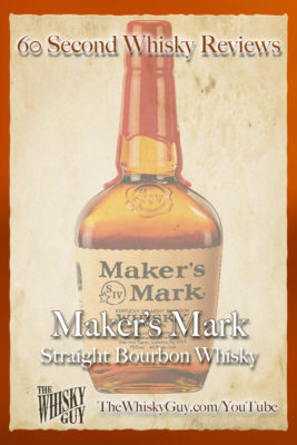 Should you spend your money on Maker's Mark Straight Bourbon Whisky? Find out in 60 Seconds in Whisky Review #069 from TheWhiskyGuy! Watch and Subscribe at TheWhiskyGuy.com/YouTube