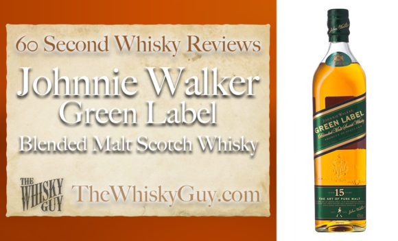 Does Johnnie Walker Green Label Blended Malt Scotch Whisky belong in your liquor cabinet? Is it worth the price at the bar? Give The Whisky Guy 60 seconds and find out! In just 60 seconds, The Whisky Guy reviews Irish Whiskey, Scotch Whisky, Single Malt, Canadian Whisky, Bourbon Whiskey, Japanese Whisky and other whiskies from around the world. Find more at TheWhiskyGuy.com. All original content © Ari Shapiro - TheWhiskyGuy.com