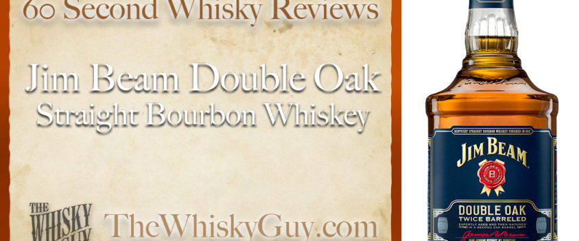 Does Jim Beam Double Oak Straight Bourbon Whiskey belong in your liquor cabinet? Is it worth the price at the bar? Give The Whisky Guy 60 seconds and find out! In just 60 seconds, The Whisky Guy reviews Irish Whiskey, Scotch Whisky, Single Malt, Canadian Whisky, Bourbon Whiskey, Japanese Whisky and other whiskies from around the world. Find more at TheWhiskyGuy.com. All original content © Ari Shapiro - TheWhiskyGuy.com