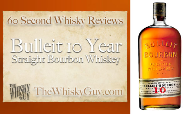 Does Bulleit 10 Year Straight Bourbon Whiskey belong in your liquor cabinet? Is it worth the price at the bar? Give The Whisky Guy 60 seconds and find out! In just 60 seconds, The Whisky Guy reviews Irish Whiskey, Scotch Whisky, Single Malt, Canadian Whisky, Bourbon Whiskey, Japanese Whisky and other whiskies from around the world. Find more at TheWhiskyGuy.com. All original content © Ari Shapiro - TheWhiskyGuy.com