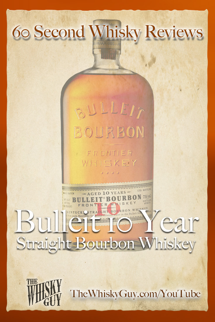 Should you spend your money on Bulleit 10 Year Straight Bourbon Whiskey? Find out in 60 Seconds in Whisky Review #074 from TheWhiskyGuy! Watch and Subscribe at TheWhiskyGuy.com/YouTube