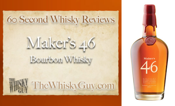 Does Maker's 46 Barrel Finished Bourbon Whisky belong in your liquor cabinet? Is it worth the price at the bar? Give The Whisky Guy 60 seconds and find out! In just 60 seconds, The Whisky Guy reviews Irish Whiskey, Scotch Whisky, Single Malt, Canadian Whisky, Bourbon Whiskey, Japanese Whisky and other whiskies from around the world. Find more at TheWhiskyGuy.com. All original content © Ari Shapiro - TheWhiskyGuy.com