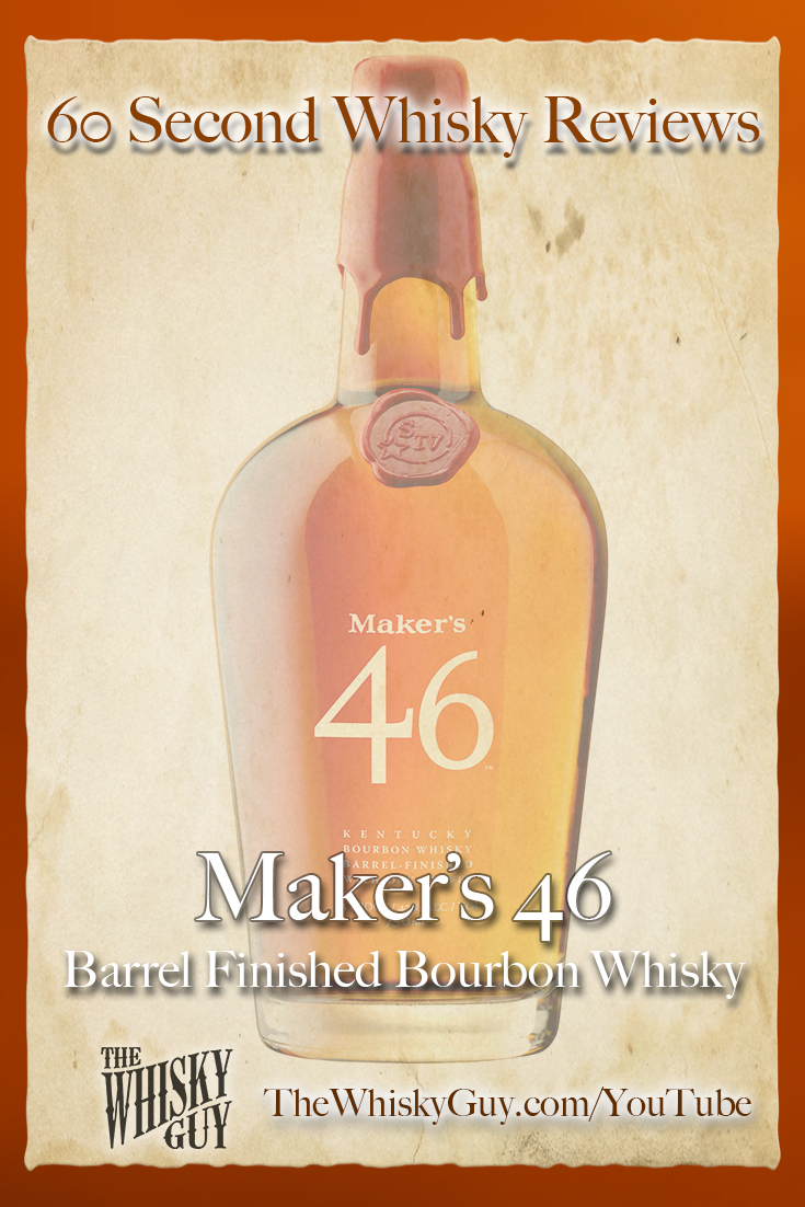 Should you spend your money on Maker's 46 Barrel Finished Bourbon Whisky? Find out in 60 Seconds in Whisky Review #075 from TheWhiskyGuy! Watch and Subscribe at TheWhiskyGuy.com/YouTube