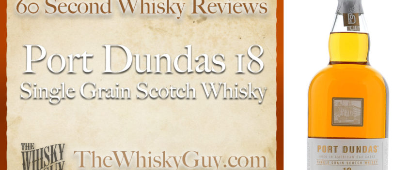 Does Port Dundas 18 Single Grain Scotch Whisky belong in your liquor cabinet? Is it worth the price at the bar? Give The Whisky Guy 60 seconds and find out! In just 60 seconds, The Whisky Guy reviews Irish Whiskey, Scotch Whisky, Single Malt, Canadian Whisky, Bourbon Whiskey, Japanese Whisky and other whiskies from around the world. Find more at TheWhiskyGuy.com. All original content © Ari Shapiro - TheWhiskyGuy.com