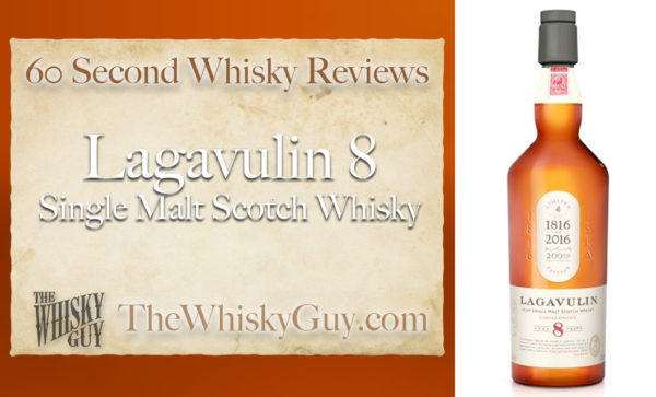 Does Lagavulin 8 Single Malt Scotch Whisky belong in your liquor cabinet?  Is it worth the price at the bar? Give The Whisky Guy 60 seconds and find out!  In just 60 seconds, The Whisky Guy reviews Irish Whiskey, Scotch Whisky, Single Malt, Canadian Whisky, Bourbon Whiskey, Japanese Whisky and other whiskies from around the world. Find more at TheWhiskyGuy.com.  All original content © Ari Shapiro - TheWhiskyGuy.com