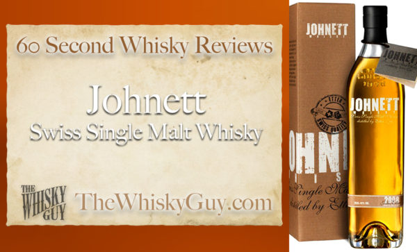 Does Johnett Swiss Single Malt Whisky belong in your liquor cabinet? Is it worth the price at the bar? Give The Whisky Guy 60 seconds and find out! In just 60 seconds, The Whisky Guy reviews Irish Whiskey, Scotch Whisky, Single Malt, Canadian Whisky, Bourbon Whiskey, Japanese Whisky and other whiskies from around the world. Find more at TheWhiskyGuy.com. All original content © Ari Shapiro - TheWhiskyGuy.com