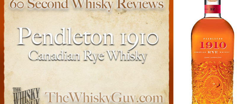 Does Pendleton 1910 Canadian Rye Whisky belong in your liquor cabinet? Is it worth the price at the bar? Give The Whisky Guy 60 seconds and find out! In just 60 seconds, The Whisky Guy reviews Irish Whiskey, Scotch Whisky, Single Malt, Canadian Whisky, Bourbon Whiskey, Japanese Whisky and other whiskies from around the world. Find more at TheWhiskyGuy.com. All original content © Ari Shapiro - TheWhiskyGuy.com