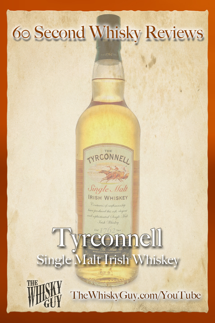 Should you spend your money on Tyrconnell Irish Single Malt Whiskey? Find out in 60 Seconds in Whisky Review #082 from TheWhiskyGuy! Watch and Subscribe at TheWhiskyGuy.com/YouTube
