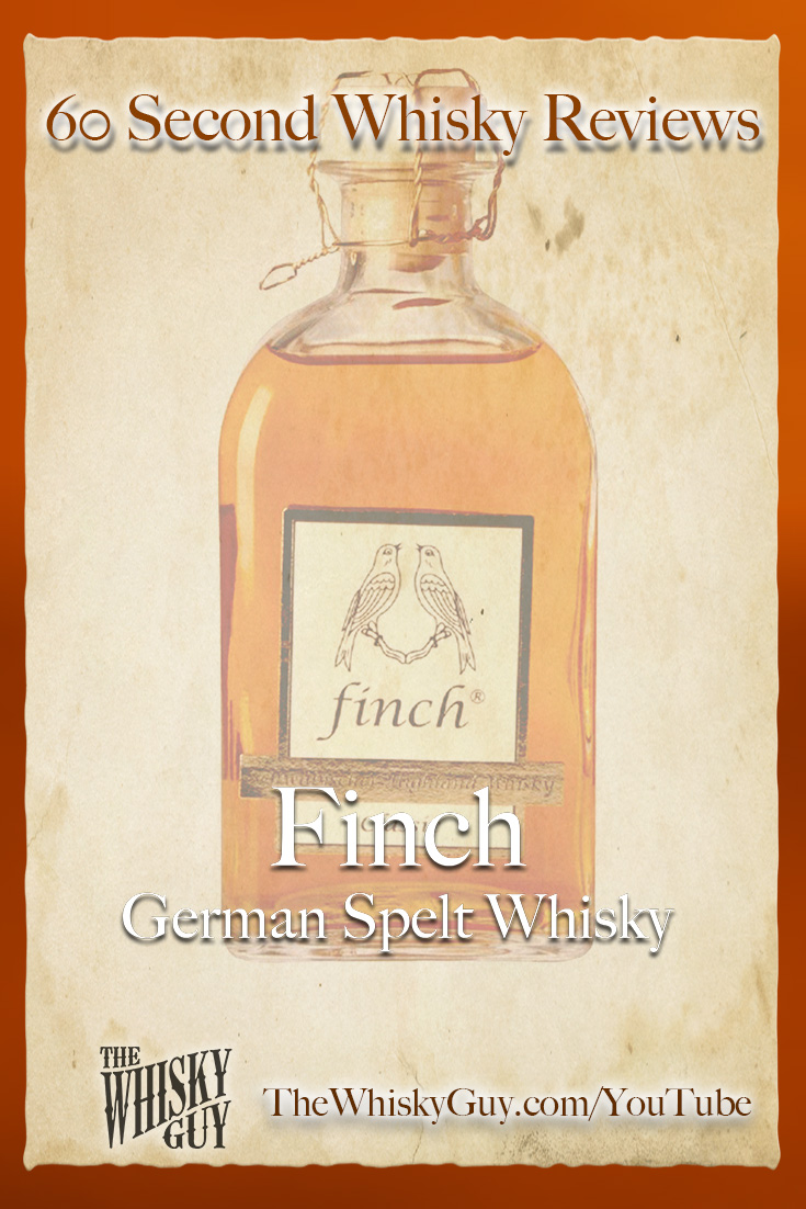 Should you spend your money on Finch German Spelt Whisky? Find out in 60 Seconds in Whisky Review #083 from TheWhiskyGuy! Watch and Subscribe at TheWhiskyGuy.com/YouTube