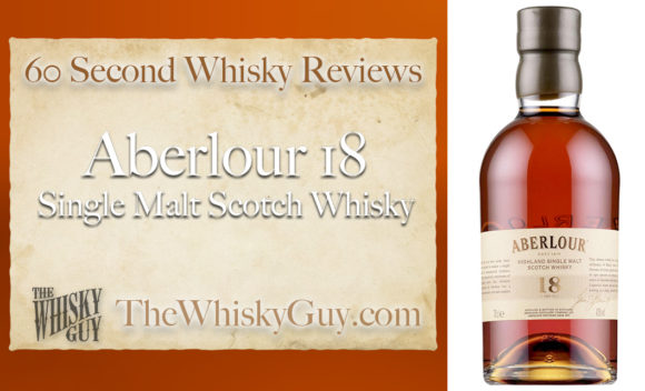 Does Aberlour 18 Single Malt Scotch Whisky belong in your liquor cabinet? Is it worth the price at the bar? Give The Whisky Guy 60 seconds and find out! In just 60 seconds, The Whisky Guy reviews Irish Whiskey, Scotch Whisky, Single Malt, Canadian Whisky, Bourbon Whiskey, Japanese Whisky and other whiskies from around the world. Find more at TheWhiskyGuy.com. All original content © Ari Shapiro - TheWhiskyGuy.com