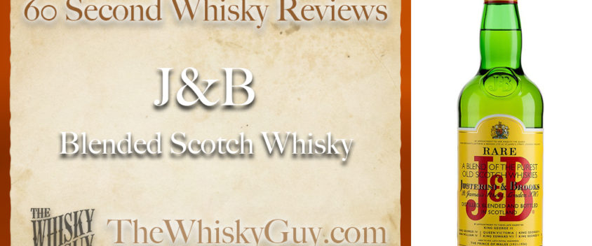 Does J&B Blended Scotch Whisky belong in your liquor cabinet? Is it worth the price at the bar? Give The Whisky Guy 60 seconds and find out! In just 60 seconds, The Whisky Guy reviews Irish Whiskey, Scotch Whisky, Single Malt, Canadian Whisky, Bourbon Whiskey, Japanese Whisky and other whiskies from around the world. Find more at TheWhiskyGuy.com. All original content © Ari Shapiro - TheWhiskyGuy.com