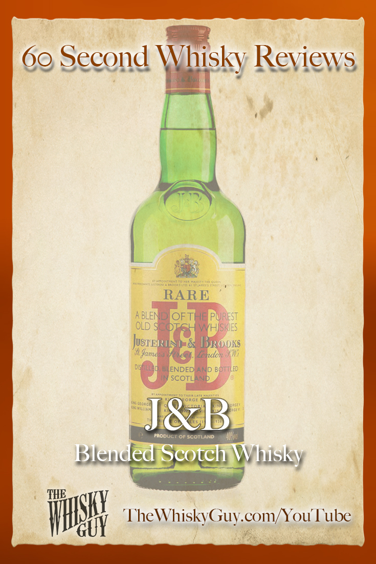 Should you spend your money on J&B Blended Scotch Whisky? Find out in 60 Seconds in Whisky Review #086 from TheWhiskyGuy! Watch and Subscribe at TheWhiskyGuy.com/YouTube