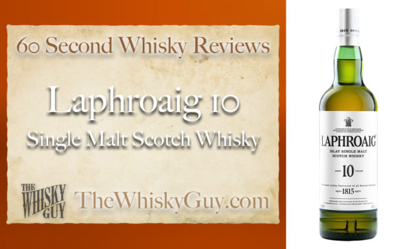 Does Laphroaig 10 Single Malt Scotch Whisky belong in your liquor cabinet?  Is it worth the price at the bar? Give The Whisky Guy 60 seconds and find out!  In just 60 seconds, The Whisky Guy reviews Irish Whiskey, Scotch Whisky, Single Malt, Canadian Whisky, Bourbon Whiskey, Japanese Whisky and other whiskies from around the world. Find more at TheWhiskyGuy.com.  All original content © Ari Shapiro - TheWhiskyGuy.com