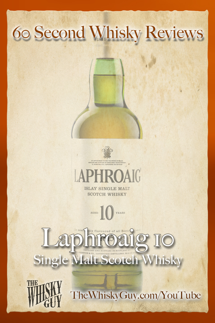 Should you spend your money on Laphroaig 10 Single Malt Scotch Whisky? Find out in 60 Seconds in Whisky Review #087 from TheWhiskyGuy! Watch and Subscribe at TheWhiskyGuy.com/YouTube