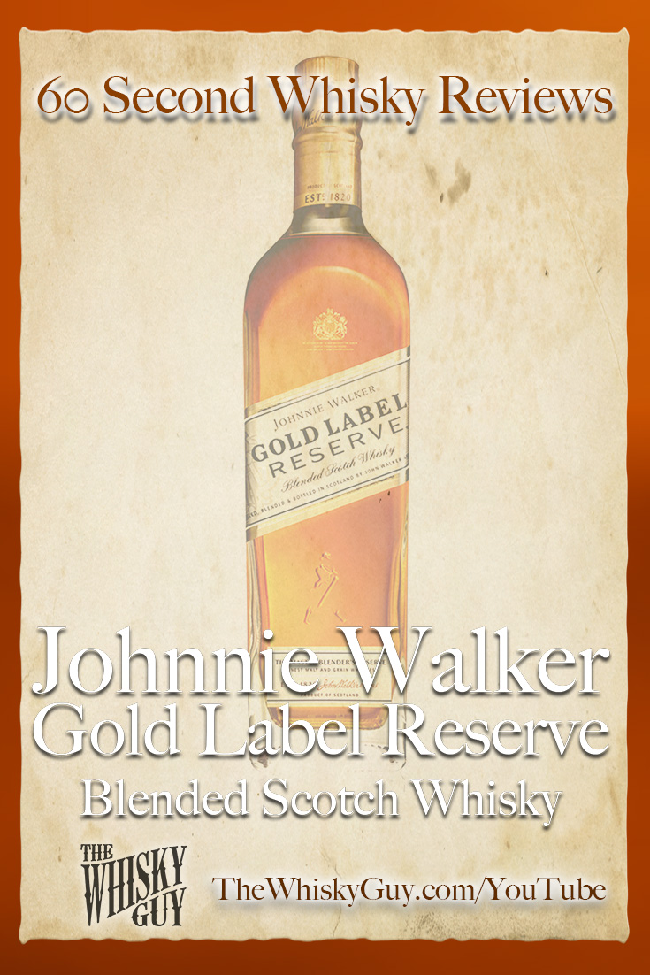 Should you spend your money on Johnnie Walker Gold Label Reserve Blended Scotch Whisky? Find out in 60 Seconds in Whisky Review #090 from TheWhiskyGuy! Watch and Subscribe at TheWhiskyGuy.com/YouTube