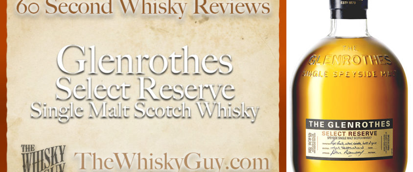 Does Glenrothes Select Reserve Single Malt Scotch Whisky belong in your liquor cabinet? Is it worth the price at the bar? Give The Whisky Guy 60 seconds and find out! In just 60 seconds, The Whisky Guy reviews Irish Whiskey, Scotch Whisky, Single Malt, Canadian Whisky, Bourbon Whiskey, Japanese Whisky and other whiskies from around the world. Find more at TheWhiskyGuy.com. All original content © Ari Shapiro - TheWhiskyGuy.com
