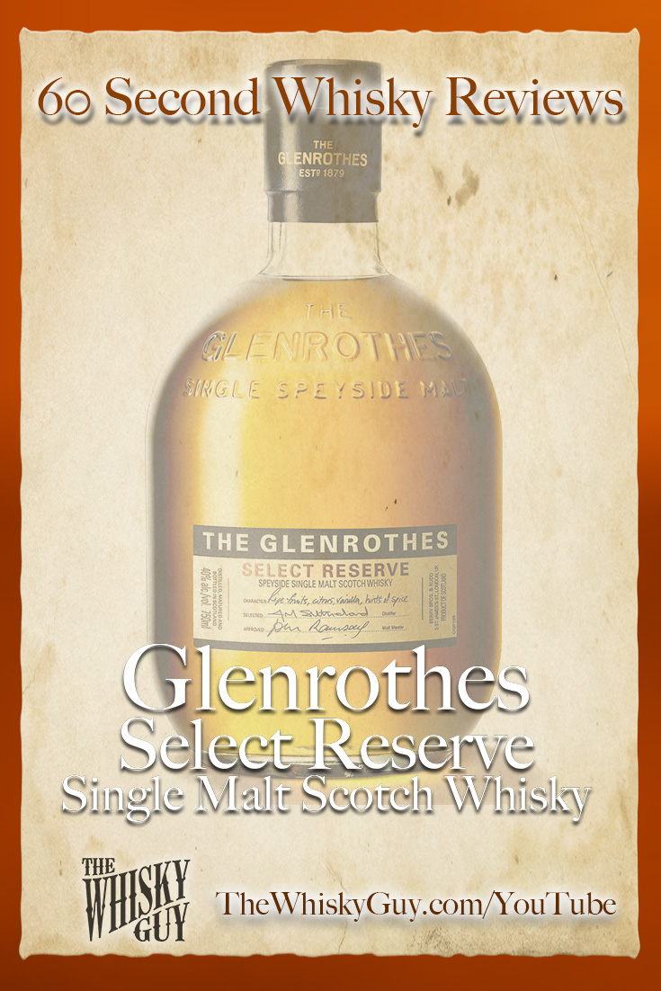 Should you spend your money on Glenrothes Select Reserve Single Malt Scotch Whisky? Find out in 60 Seconds in Whisky Review #092 from TheWhiskyGuy! Watch and Subscribe at TheWhiskyGuy.com/YouTube