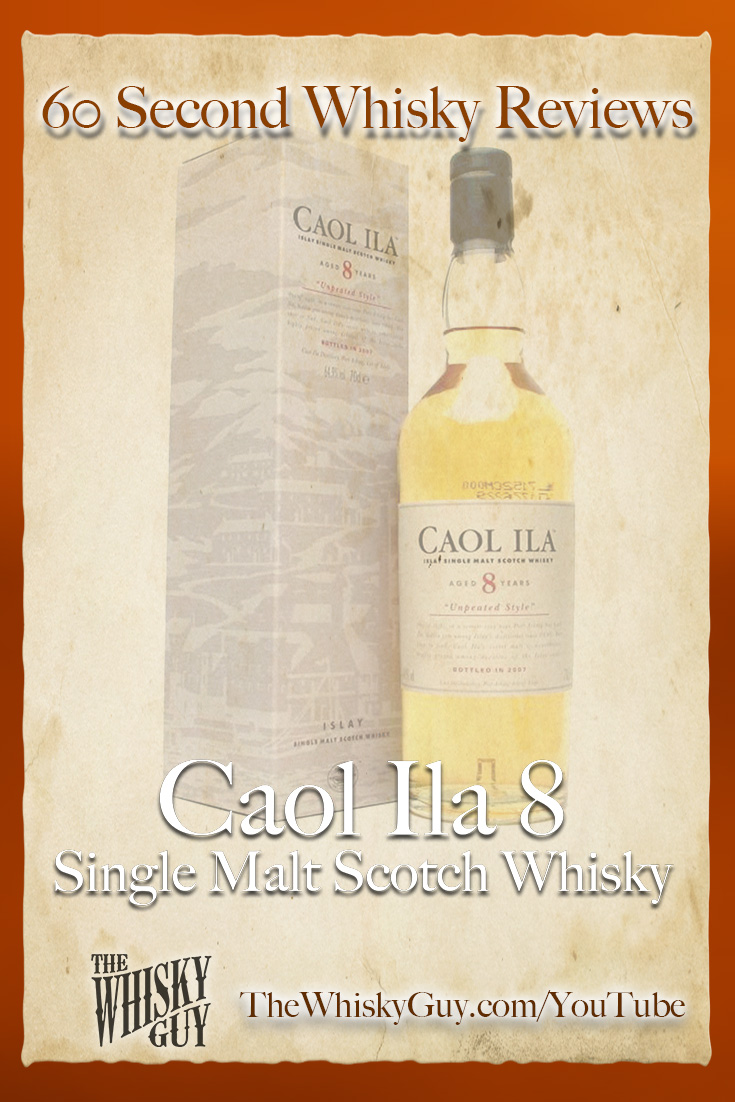 Should you spend your money on Caol Ila 8 Single Malt Scotch Whisky? Find out in 60 Seconds in Whisky Review #095 from TheWhiskyGuy! Watch and Subscribe at TheWhiskyGuy.com/YouTube