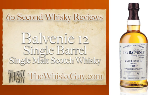 Does Balvenie 12 Single Barrel Single Malt Scotch Whisky belong in your liquor cabinet?  Is it worth the price at the bar? Give The Whisky Guy 60 seconds and find out!  In just 60 seconds, The Whisky Guy reviews Irish Whiskey, Scotch Whisky, Single Malt, Canadian Whisky, Bourbon Whiskey, Japanese Whisky and other whiskies from around the world. Find more at TheWhiskyGuy.com.  All original content © Ari Shapiro - TheWhiskyGuy.com