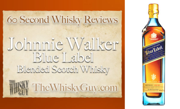 Does Johnnie Walker Blue Label Blended Scotch Whisky belong in your liquor cabinet?  Is it worth the price at the bar? Give The Whisky Guy 60 seconds and find out!  In just 60 seconds, The Whisky Guy reviews Irish Whiskey, Scotch Whisky, Single Malt, Canadian Whisky, Bourbon Whiskey, Japanese Whisky and other whiskies from around the world. Find more at TheWhiskyGuy.com.  All original content © Ari Shapiro - TheWhiskyGuy.com