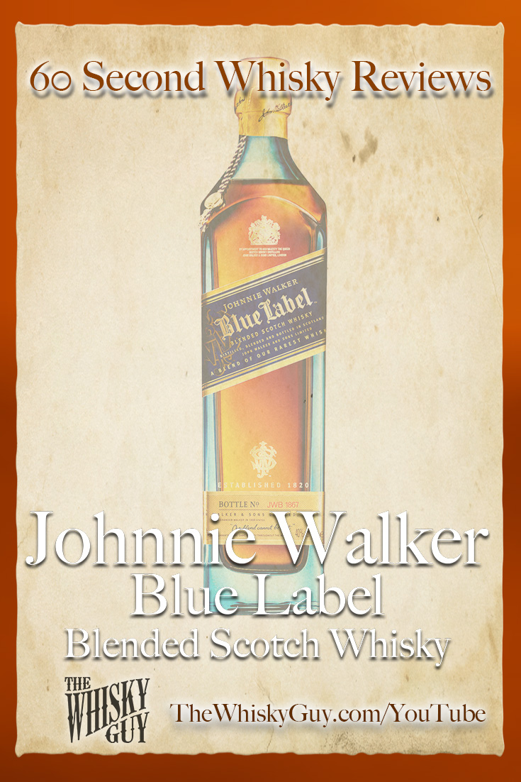 Should you spend your money on Johnnie Walker Blue Label Blended Scotch Whisky? Find out in 60 Seconds in Whisky Review #097 from TheWhiskyGuy! Watch and Subscribe at TheWhiskyGuy.com/YouTube
