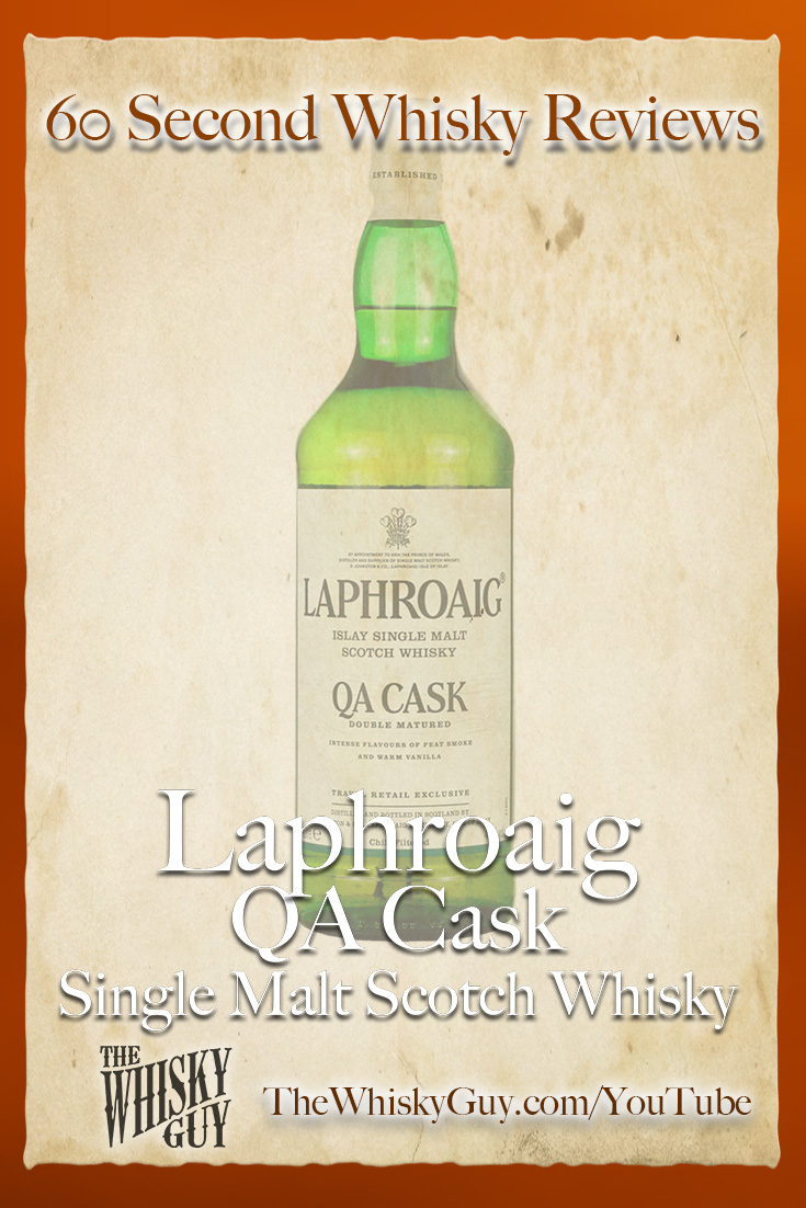 Should you spend your money on Laphroaig QA Cask Single Malt Scotch Whisky? Find out in 60 Seconds in Whisky Review #098 from TheWhiskyGuy! Watch and Subscribe at TheWhiskyGuy.com/YouTube